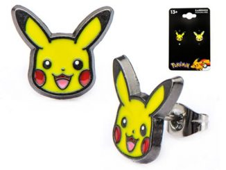 Pokemon Pikachu Head Stainless Steel Stud Earrings