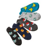 Pokemon Starters Low Cut 5-pack Socks