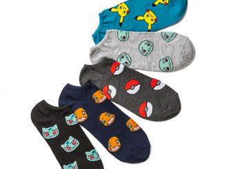 Pokemon Starters Low Cut 5-pack Socks