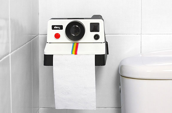 Polaroid StyledToilet Paper Holder