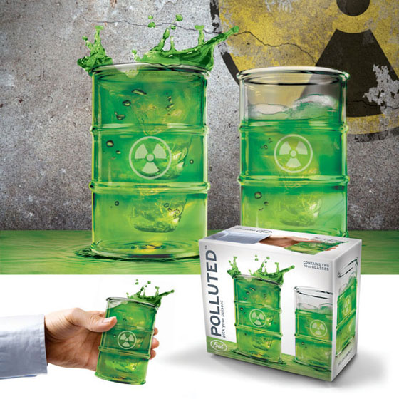 Polluted 13oz Drinking Glasses