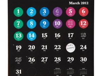 Pop the Dots Calendar