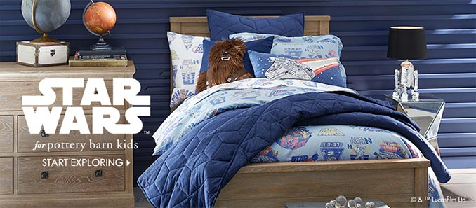 Pottery Barn Kids Star Wars Sale