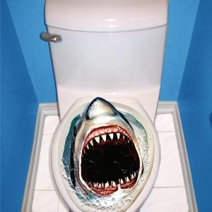 Prank Shark Toilet Topper