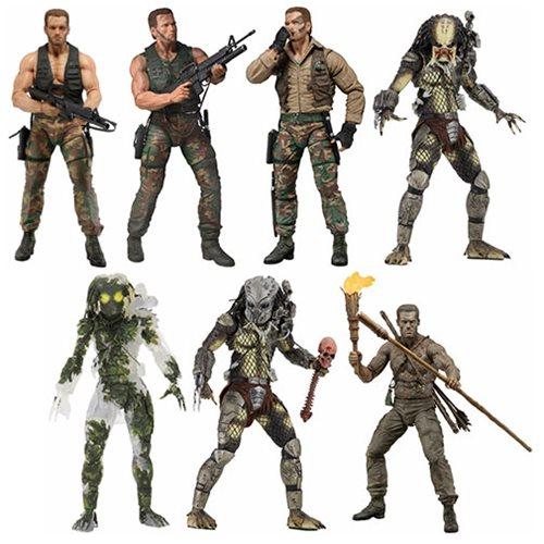 Predator 30th Anniversary 7-Inch Action Figure Set