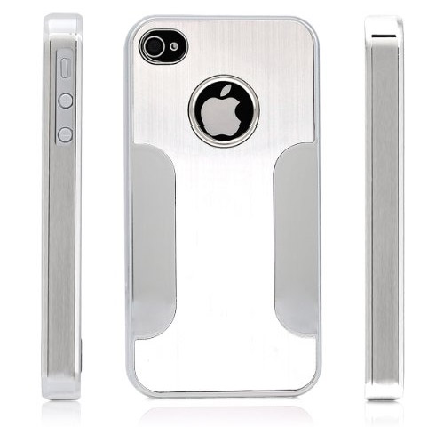 Premium Chrome Aluminum Skin Hard Back Case