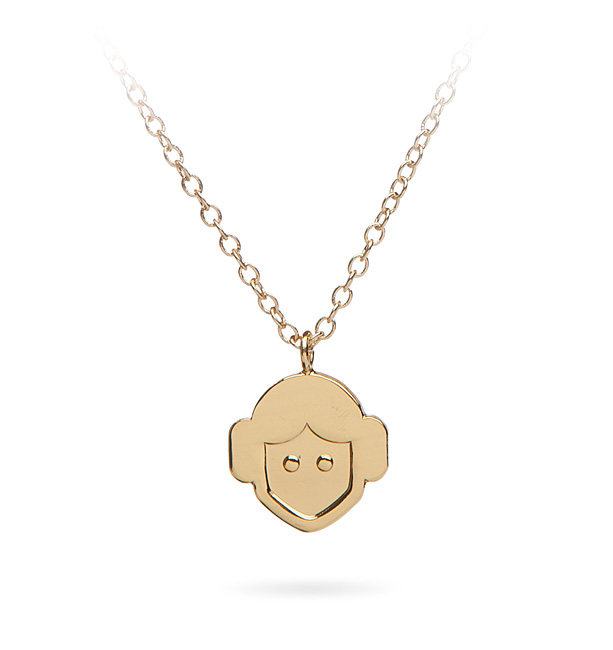 Princess Leia Emoji Necklace