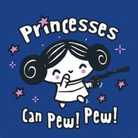 Princesses Can Pew! Pew! T-Shirt
