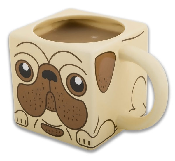 Square Pug Coffee Mug