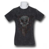 Punisher Acid Wash Symbol T-Shirt