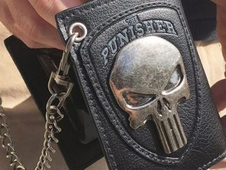 Punisher Metal Skull Chain Wallet