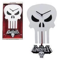 Punisher Skull 3-D Pendulum Wall Clock