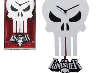 Punisher Skull 3-D Pendulum Wall Clock