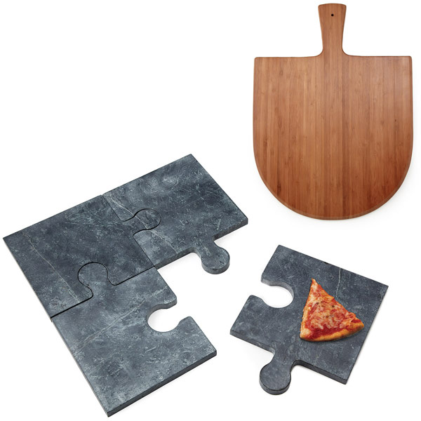 Puzzle Pizza Stone and Peel