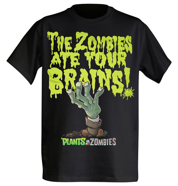 PvZ The Zombies Ate Your Brains Plants vs. Zombies: The Zombies Ate Your Brains T Shirt