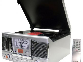 Pyle PTCD8US two-speed retro style turntable
