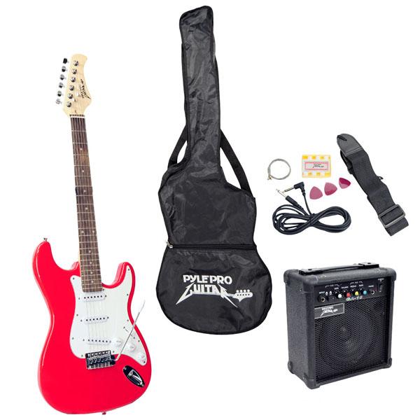Pyle-Pro PEGKT15R Beginner Electric Guitar Package