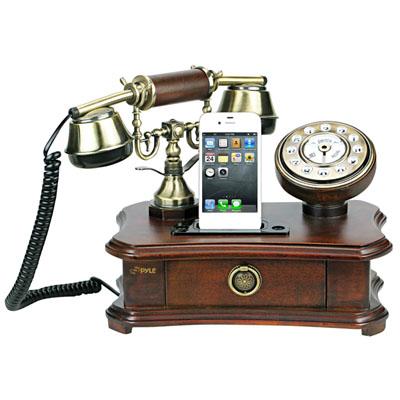 pyle retro rotary smartphone stations. Black Bedroom Furniture Sets. Home Design Ideas