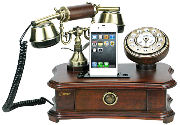 Pyle Retro Rotary iPhone Docks