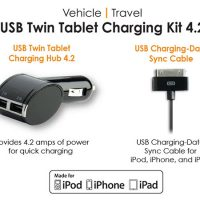 Qmadix USB Twin Tablet Charging Kit 4.2