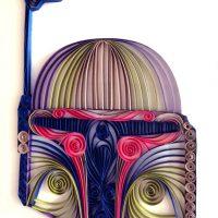 Quilled Paper Star Wars Sculptures - Boba Fett
