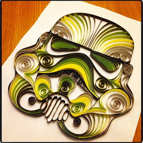Quilling Paper Filigree Quilled Paper Star Wars