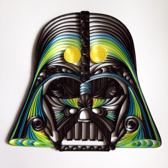Quilled Paper Star Wars Sculptures