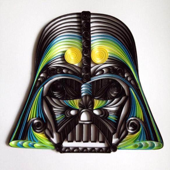 Quilled Paper Star Wars Sculptures
