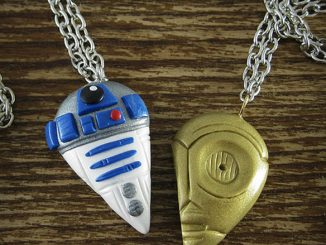 R2D2 and C3PO Best Friends Necklace Set
