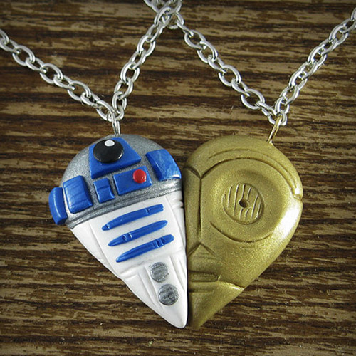R2D2 and C3PO Necklace Set