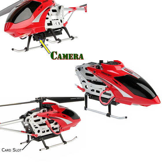 RC Spy Gyro Video Recording Helicopter