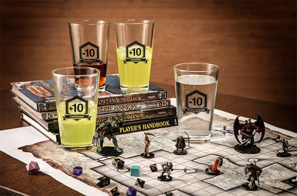 RPG Drinking Stats Pint Glass 4-Pack