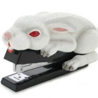 Rabbit with Big Pointy Teeth Stapler