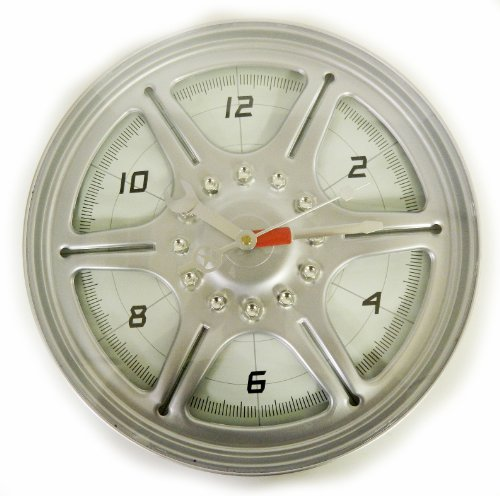 "Racing Series 13"" Wheel Rim Wall Clock"