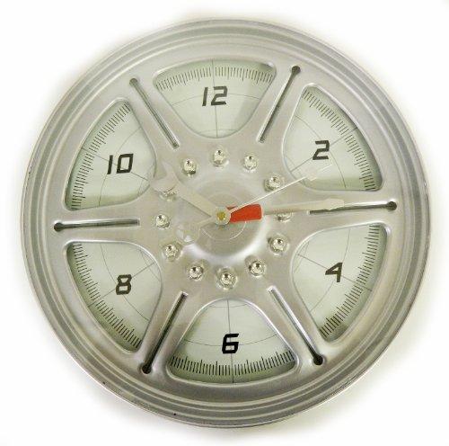 "Racing Series 13"" Wheel Rim Wall Clock"