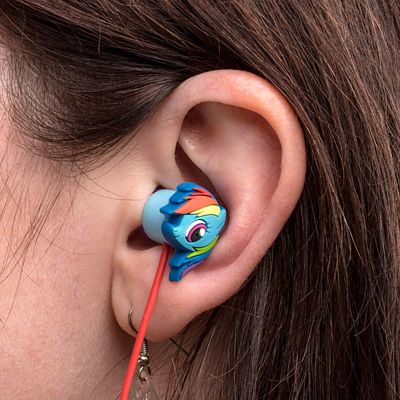 Rainbow Dash Pony Earbuds