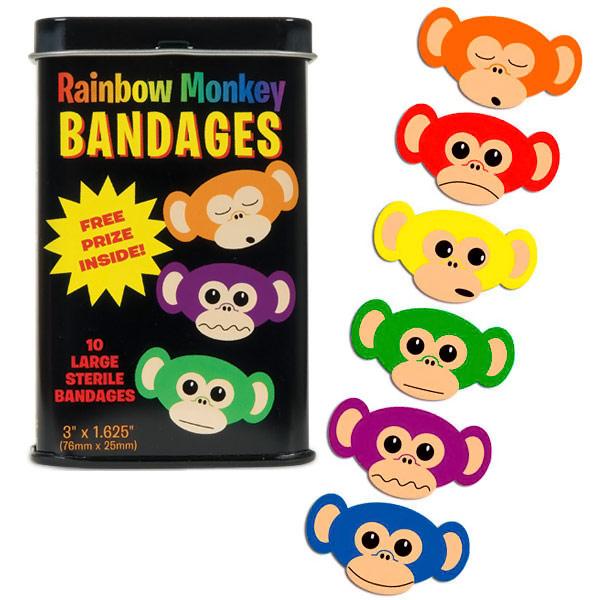 Rainbow Monkey Adhesive Bandages