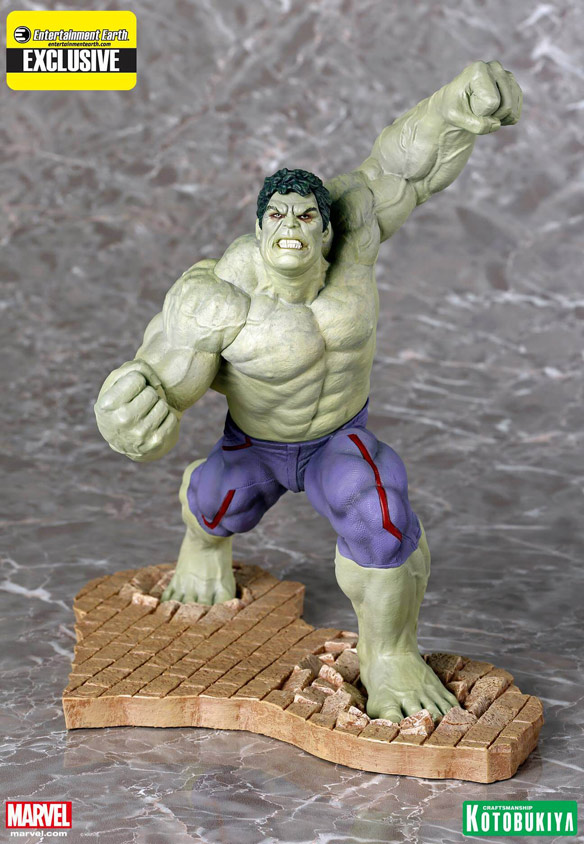 Rampaging Hulk ARTFX Statue Entertainment Earth Exclusive by Kotobukiya