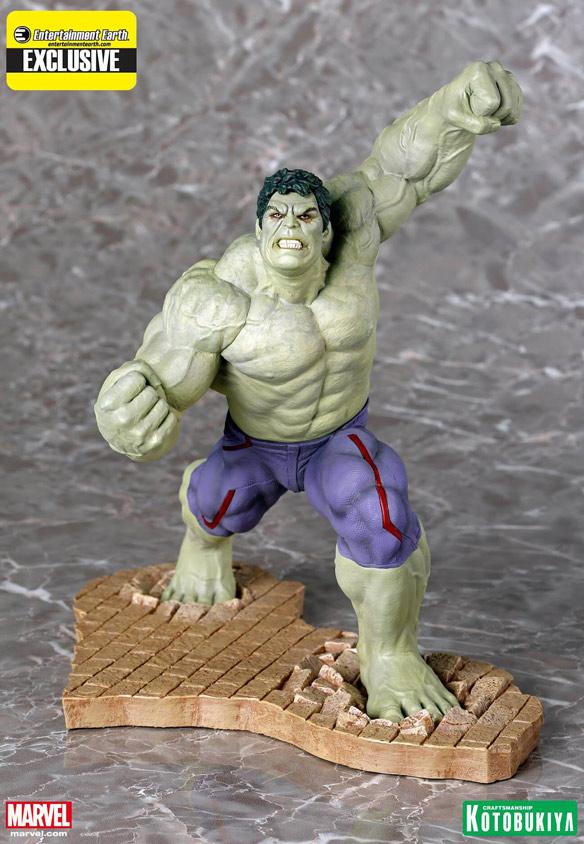 Rampaging Hulk ARTFX Statue Entertainment Earth Exclusive by Kotobukiya
