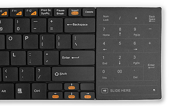 Rapoo E9080 Wireless Keyboard with Touchpad