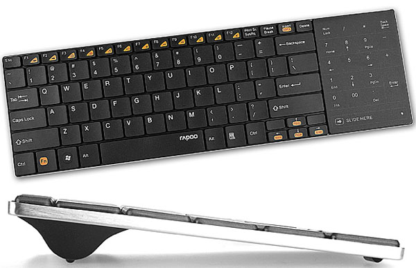 rapoo e9080 wireless ultra slim keyboard with touchpad. Black Bedroom Furniture Sets. Home Design Ideas