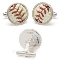 Real Baseball Stitches Cufflinks