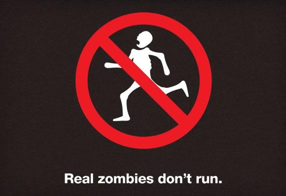 Real Zombies Don't Run T-Shirt