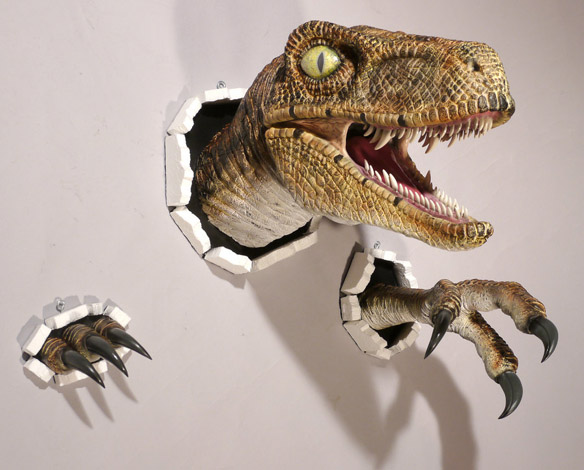 Realistic Wall-Bursting Velociraptor