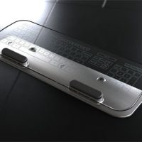 Rechargeable Wireless Glass Keyboard and Mouse