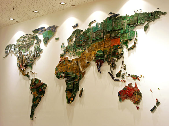 Recycled Computer Components World Map