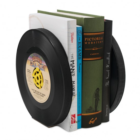 Recycled Record Bookends
