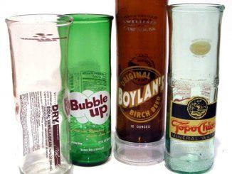 Recycled Soda Bottle Drinking Glasses