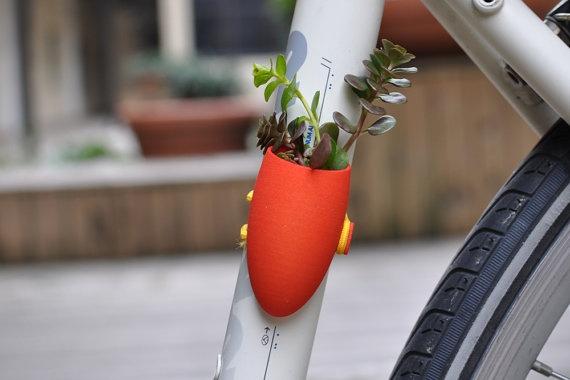 Red Bike Planter