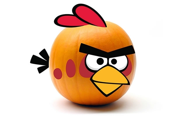 Red Bird Angry Birds Pumpkin Push Ins